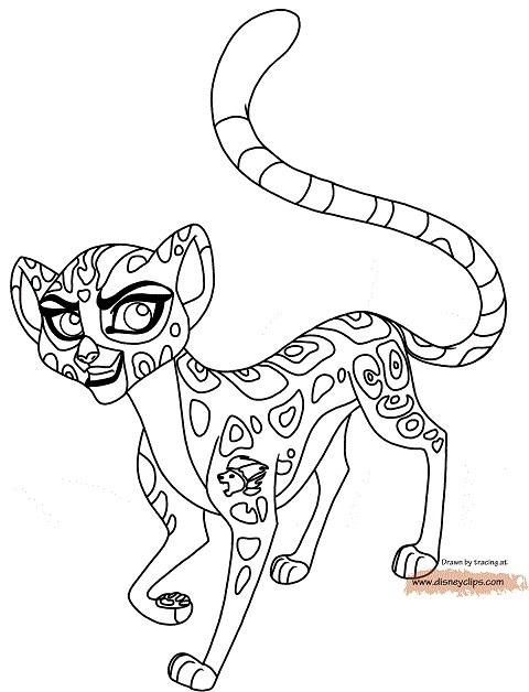 Dibujos La Guardia del Leon para colorear Fuli