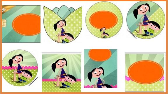 Kit imprimible El mundo de Luna decoracion fiesta cumpleaños - imprimibles gratis descarga mundo de luna