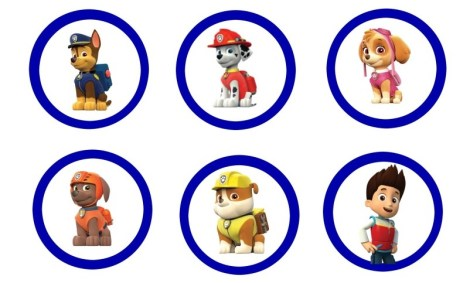 adornos paw patrol - ideas para decoracion
