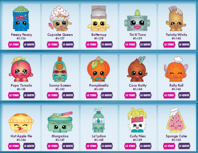 Shopkins nombres