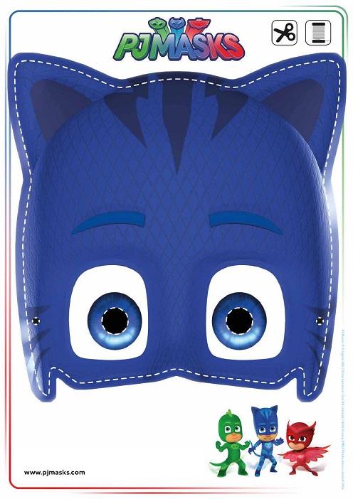 Pj masks máscaras divertidas para imprimir y jugar todo