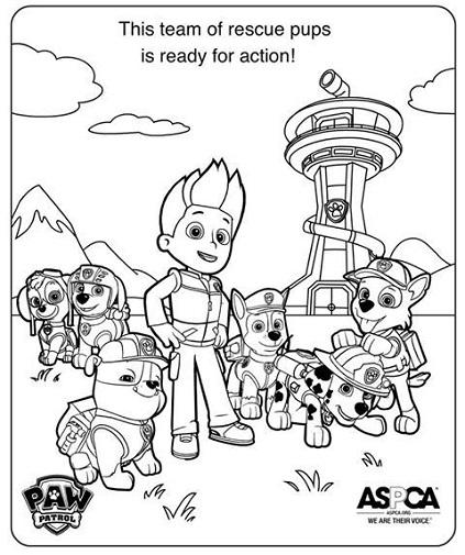 Paw Patrol Shield Coloring Pages : Dibujos de paw patrol para colorear todo peques