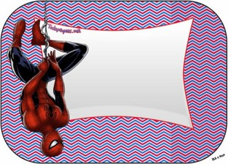 Spiderman moldes candy bar stickers gratis