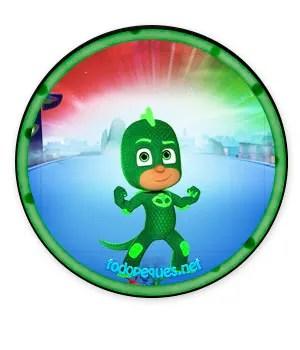 Gekko Pj Masks imprimibles gratis - descargar stickers pj masks - descargar etiquetas pj masks