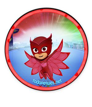 Pj masks owlette imprimibles - etiquetas owlette pj masks niñas - stickers pj masks owlette descarga gratis decoracion