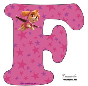 abecedario paw patrol skye letras
