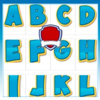 Letras y Numeros de Paw Patrol con LOGO para editar y descargar gratis