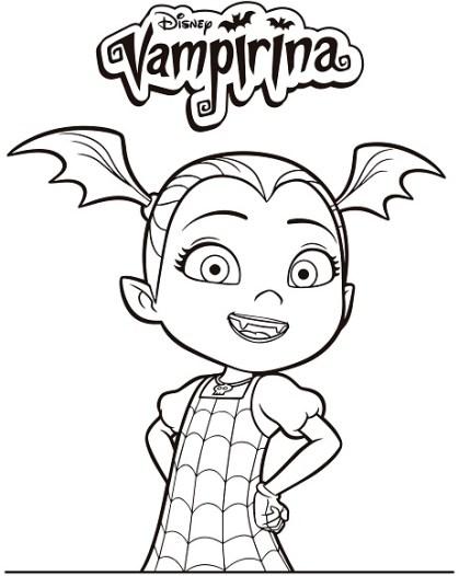Vampirina Dibujos para imprimir y colorear | Todo Peques