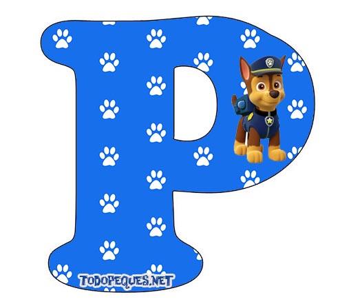 Letras abecedario paw patrol con chase todo peques for Formas de letras para cumpleanos