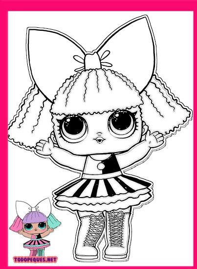 Para Colorear Lol Lol Surprise Doll Dollface Paginas Para Colorear