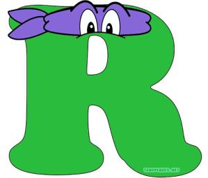 Ninja turtles alphabet