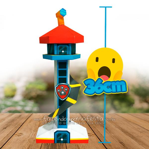 Molde Torre Paw Patrol Para Imprimir Y Armar Todo Peques