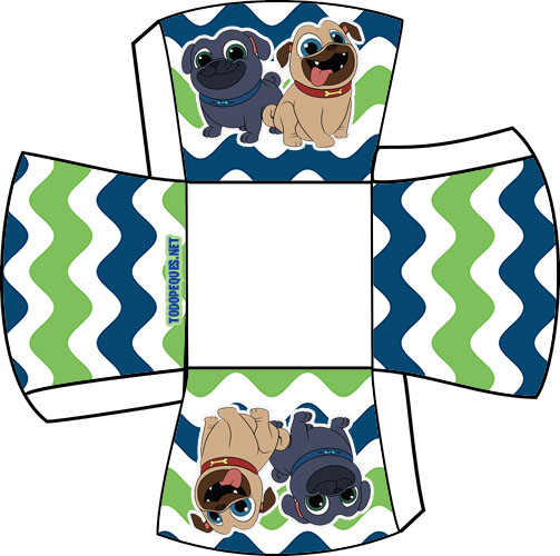 Cajitas Puppy dog pals moldes - party box pppy dog pals - Printables free Birthday party puppy dog pals - bingo & rolly candy bar printables