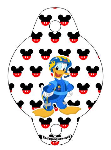 Adornos Mickey sobre ruedas - imprimibles mickey sobre ruedas