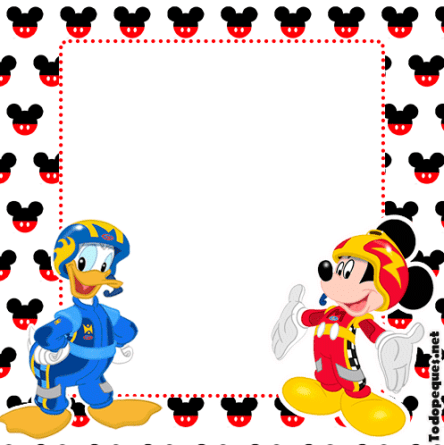 Mickey & DOnald imprimibles decoracion cumpleanos