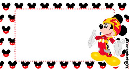 Kits Imprimibles Mickey sobre ruedas descarga gratis