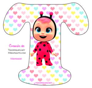 Abecedarios bebes Llorones para imprimir Cry Babies alphabet