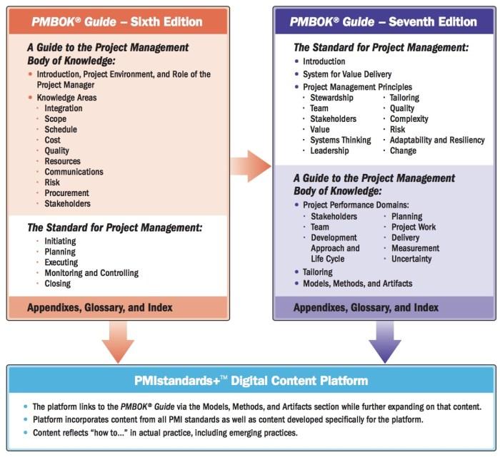 ¿Cómo esta organizada la nueva Guía PMBOK 7?
