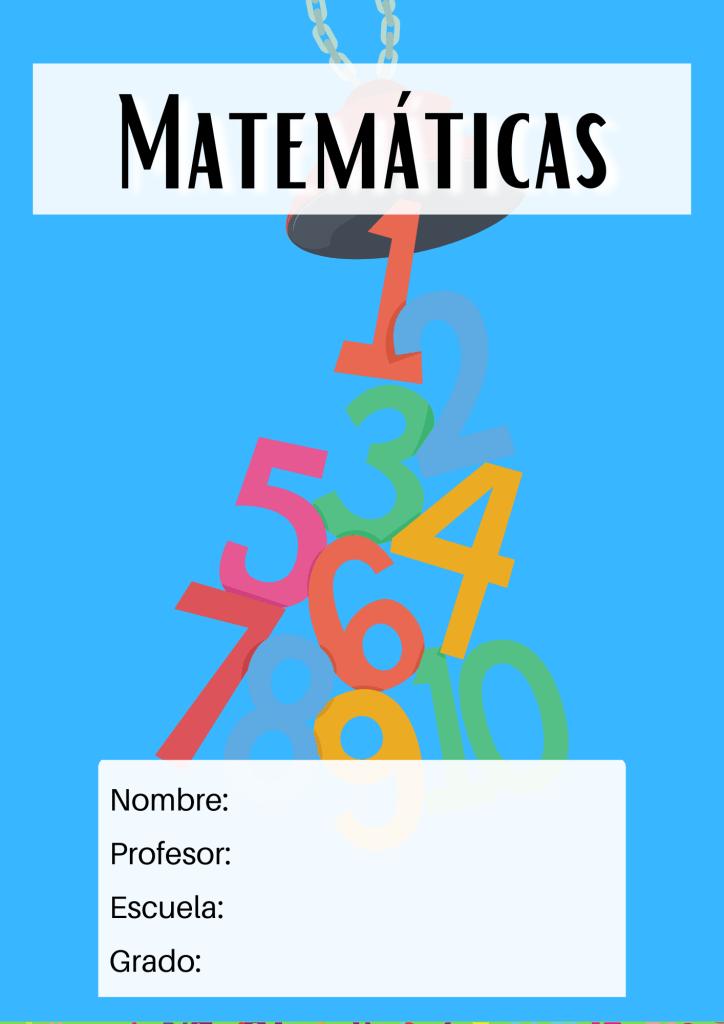 portada de matemáticas números