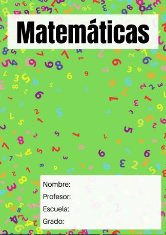 portada materia matemáticas cifras