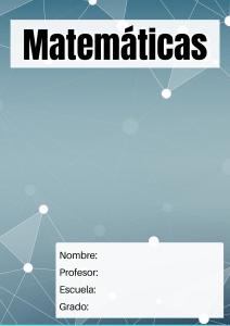 portada formal matemáticas
