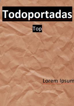 portada word aesthetic papel marrón