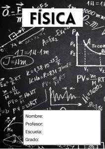 portada de física pizarra