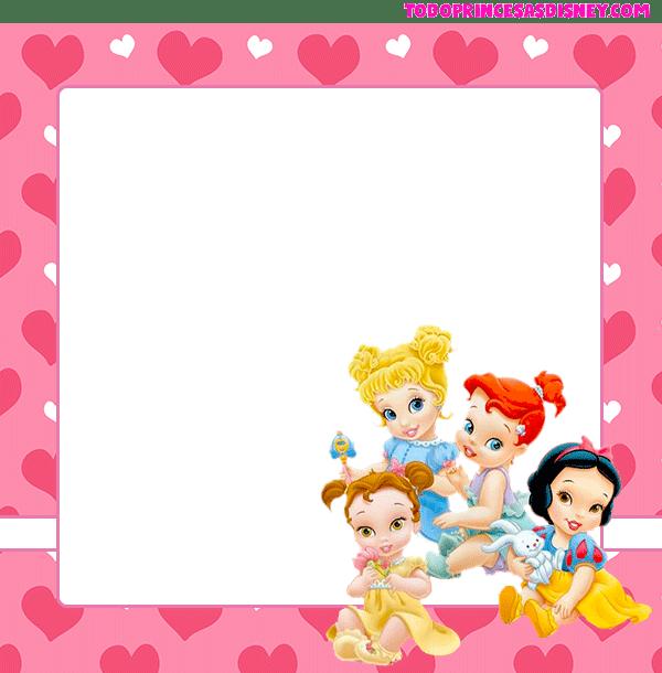 Candy bar Princesas bebes para imprimir gratis