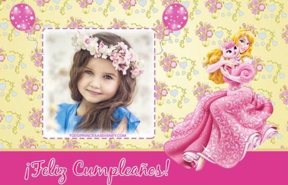 Princesa Aurora fotomontajes cumpleanos