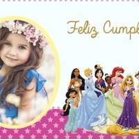 Marco de Cumpleanos con Princesas Disney