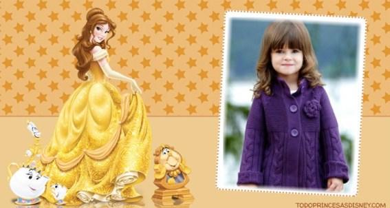 Princesa Bella Disney Marcos para fotos
