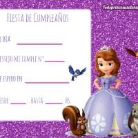 Invitaciones de Cumpleanos de Princesa Sofia