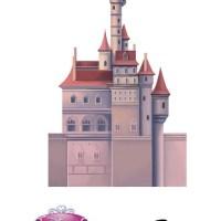 Castillo para imprimir y armar de Princesa Bella