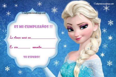 Frozen Invitaciones de Cumpleanos Elsa
