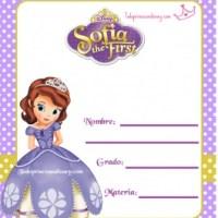 Etiquetas de Cuaderno de Princesa Sofía