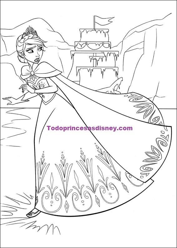 Nuevos Dibujos De Frozen Para Colorear Princesas Disney
