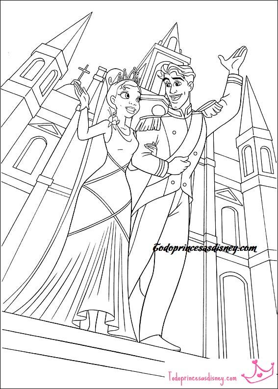 Dibujos Para Colorear De La Princesa Y El Sapo Princesas Disney