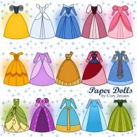 Vestidos de Princesas para imprimir