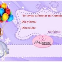 Tarjetas de Cumpleaños de Princesita Sofía