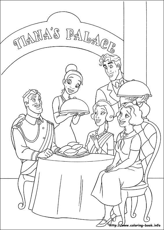 Dibujos Para Colorear De Tiana Archivos Princesas Disney