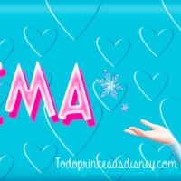 Portada de Frozen con nombre Fátima