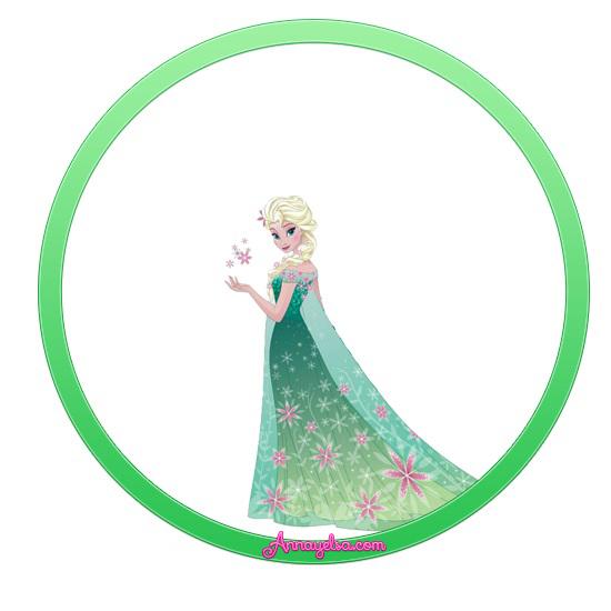 Stickers redondos Anna y Elsa