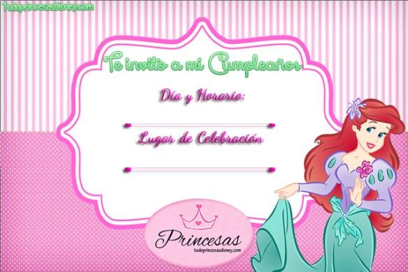 Invitaciones de Cumpleaños de La Sirenita