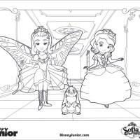 Dibujos para Colorear de Princesa Sofia, Amber y Clover