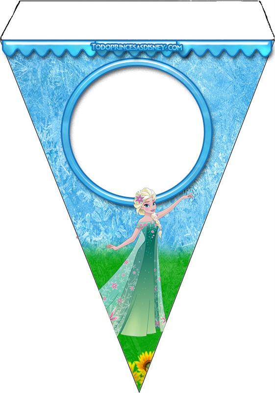 Banderines de Frozen para descargar gratis
