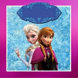 Etiquetas cuadradas Elsa y Anna Frozen - Pegatinas Frozen - Stickers Elsa y Anna Frozen