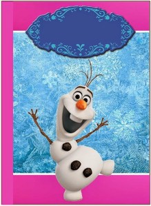 Stickers Olaf - Etiquetas Olaf rectangulares - Pegatinas OLAF