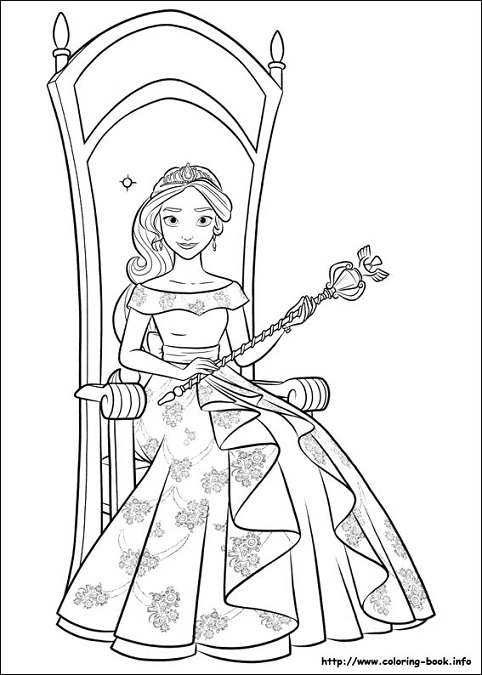 Dibujos De Elena De Avalor Para Imprimir Y Colorear Princesas Disney