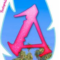 Banderines de Moana formato hoja, abecedario completo con descarga gratis