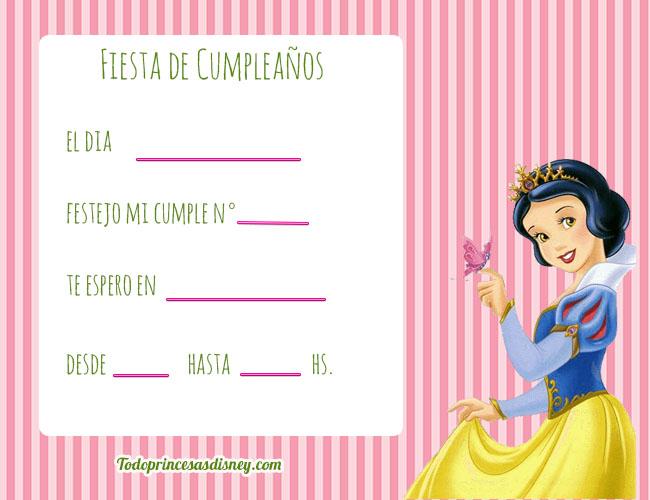 Invitaciones de cumplea os de las princesas archivos - Invitacion para cumpleanos ...